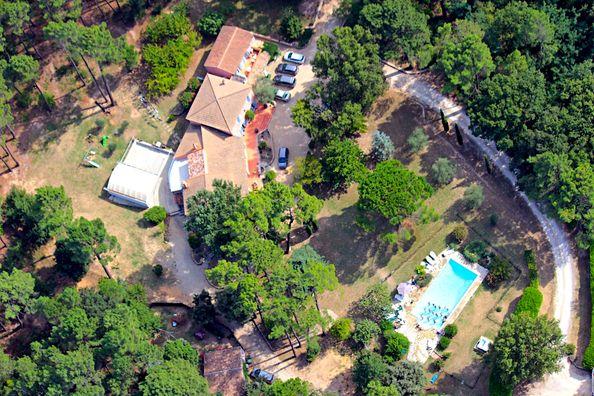 Vue aérienne villa Vaucluse