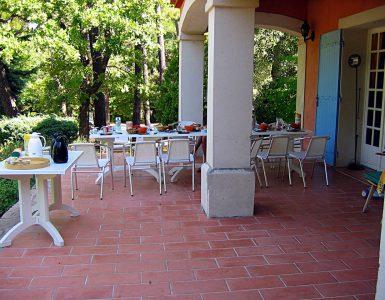 Terasse grande villa Provence