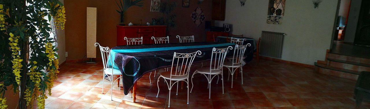 Salon grande villa Provence